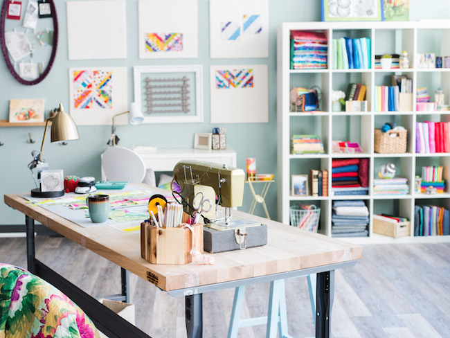 Craftsy's Organized Quilting Space