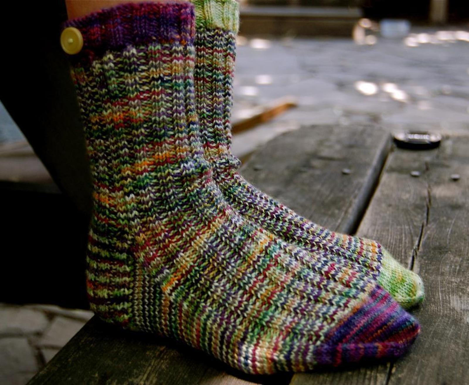 A Study in Scraps Socks Knitting Pattern