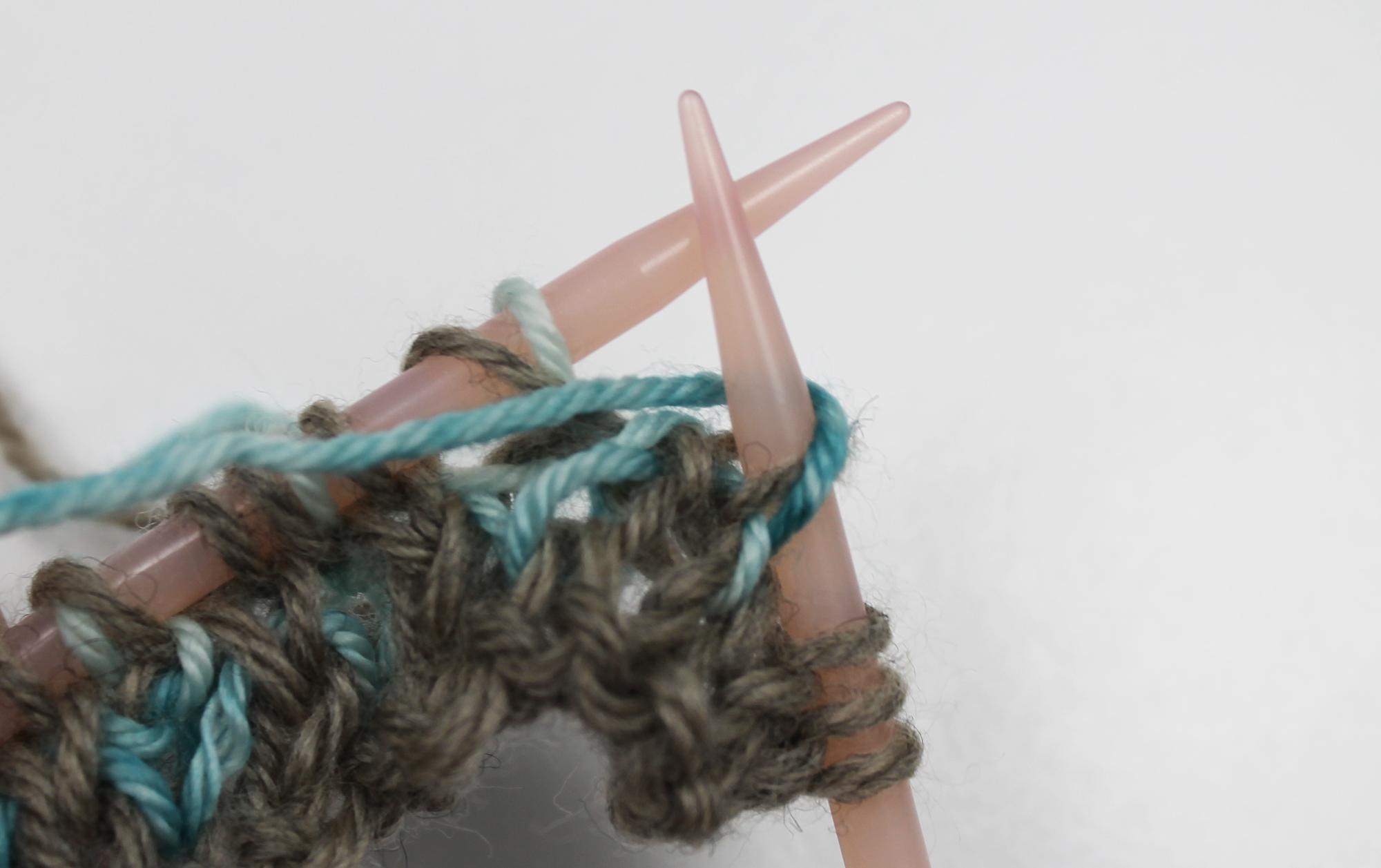 Brioche purl stitch