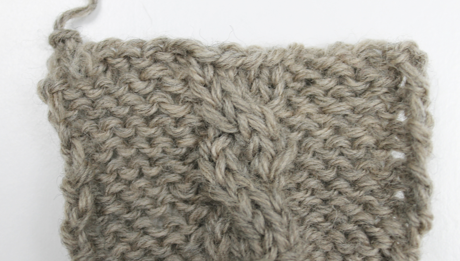 Cable bind off in pattern