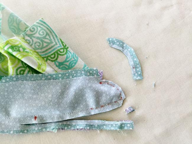 clip and trim seam allowances collar 2