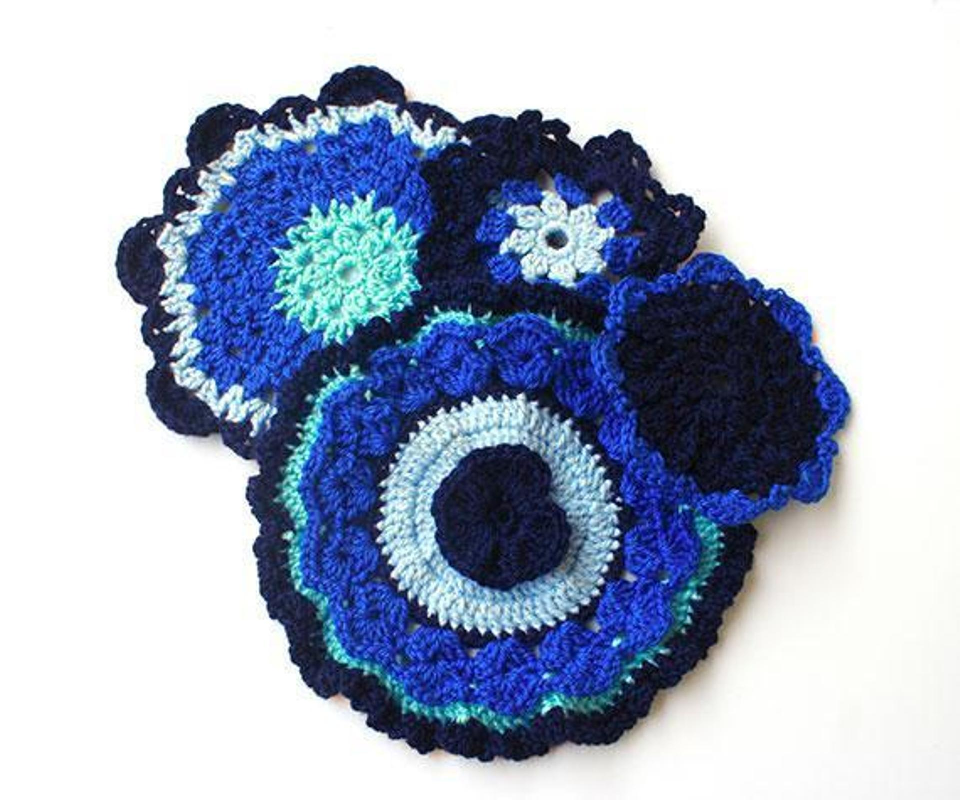 fancy crochet coasters free pattern