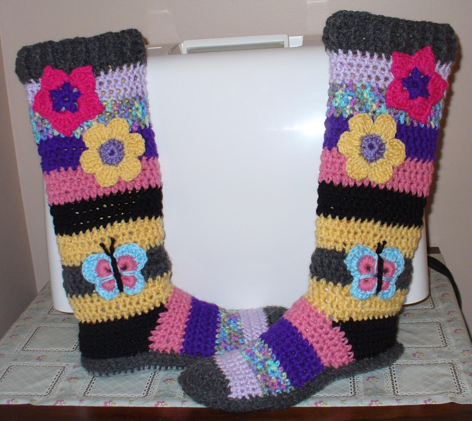 felt bohemian booties crochet pattern