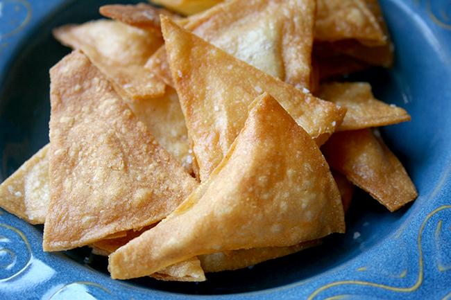 Fried tortilla chips