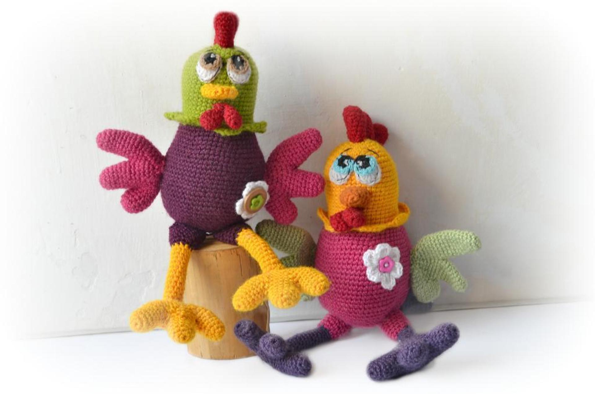 funky rooster crochet pattern