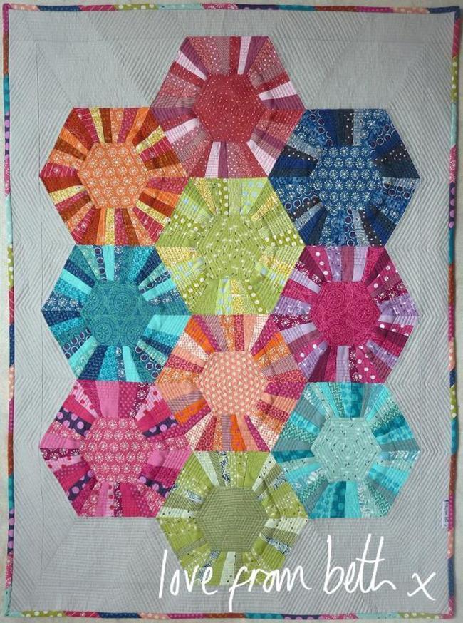 Modern Hexagons Quilt