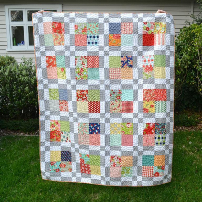 Scrappy Modern Squares Quilt
