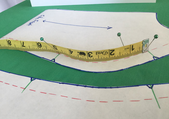 view of measure tape on side