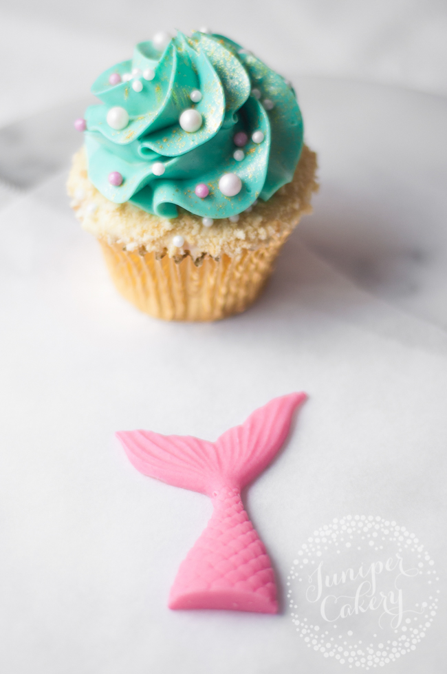 Fun mermaid themed cupcake tutorial