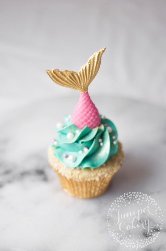 Guide to making a mermaid cupcake