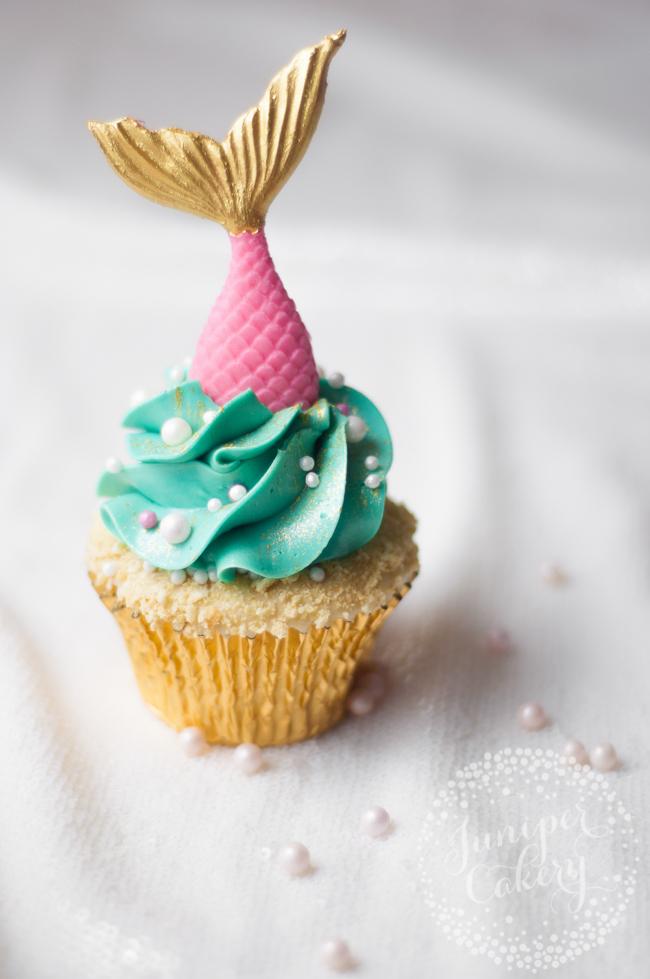 Learn how to make a mermaid cupcake