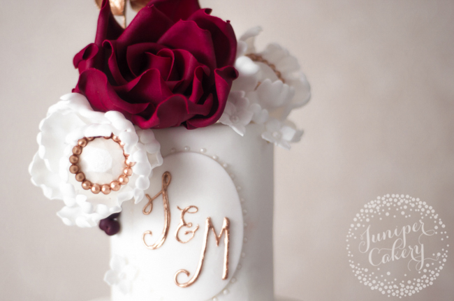 How to add monograms to cakes