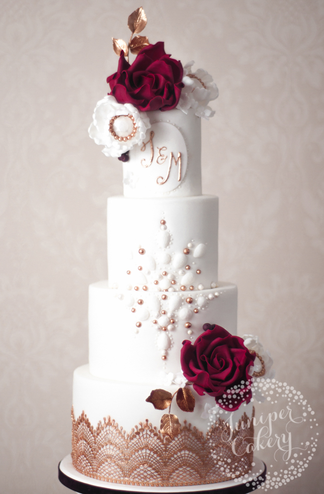 How to add monograms to cakes for a personal touch