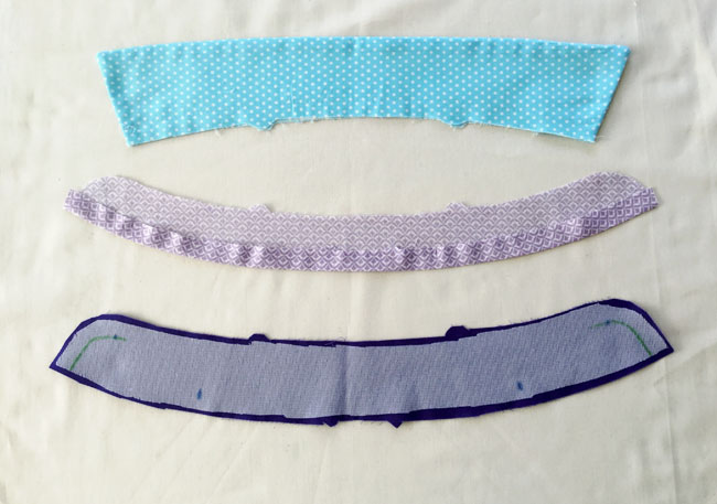 prepare collar pieces