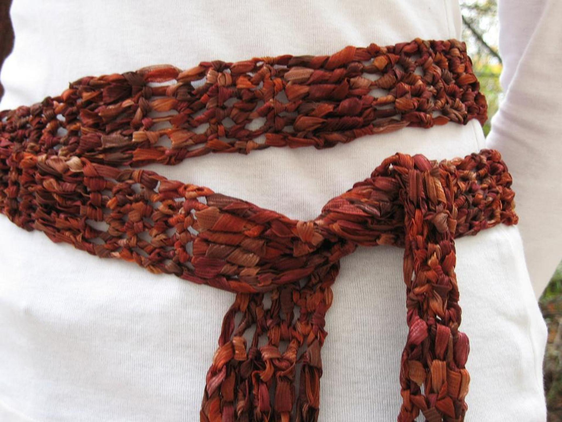 ribbon belt crochet pattern