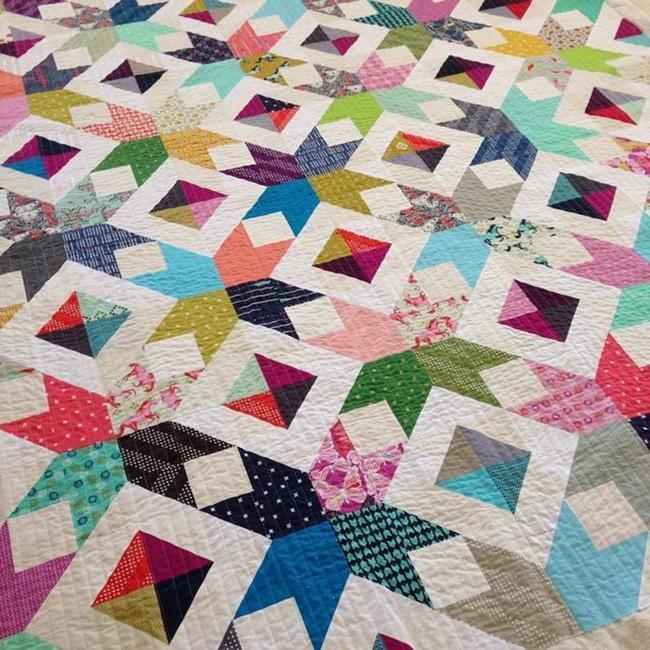 Scrappy Modern Quilt