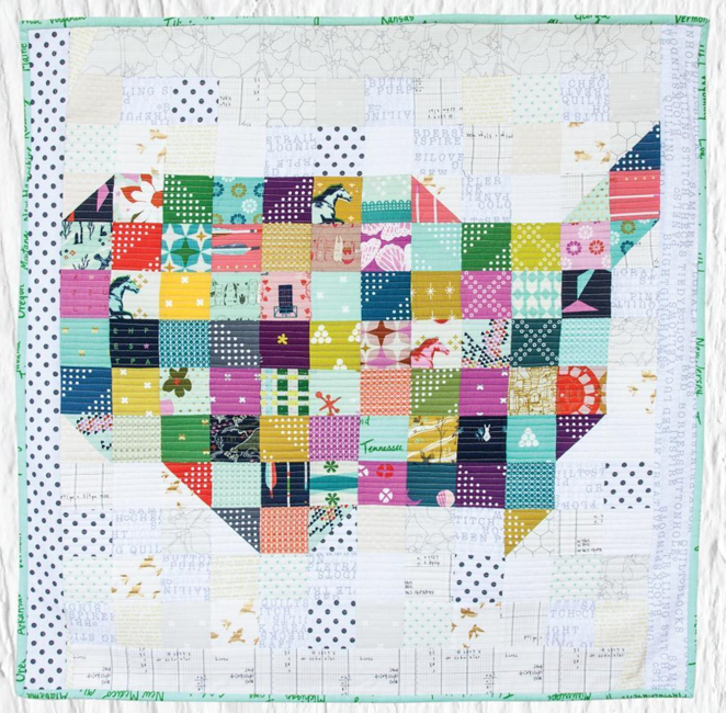 Scrappy USA Quilt