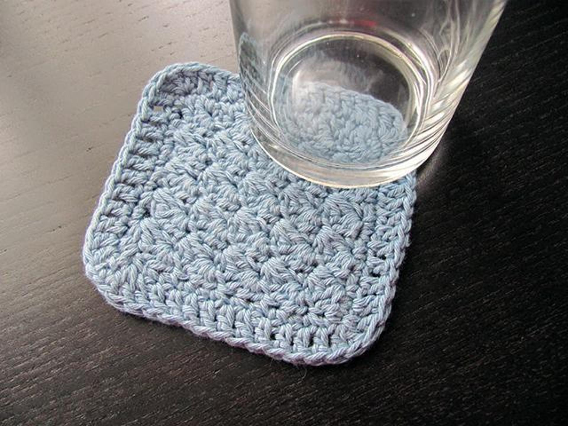 sedge stitch coaster crochet pattern