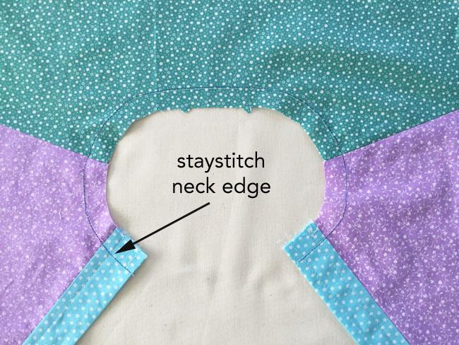 staystitch neck edge