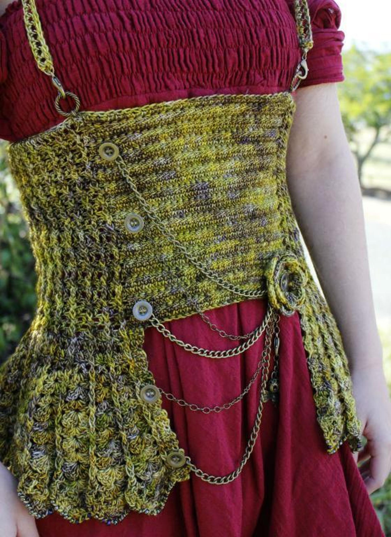 steampunk crochet corset