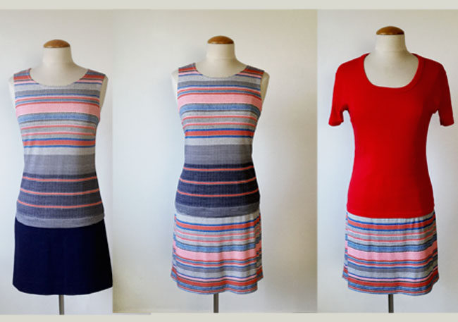 stripe outfit mix and match