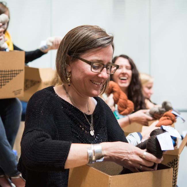 Sunne Meyer Opening Box of Yarn