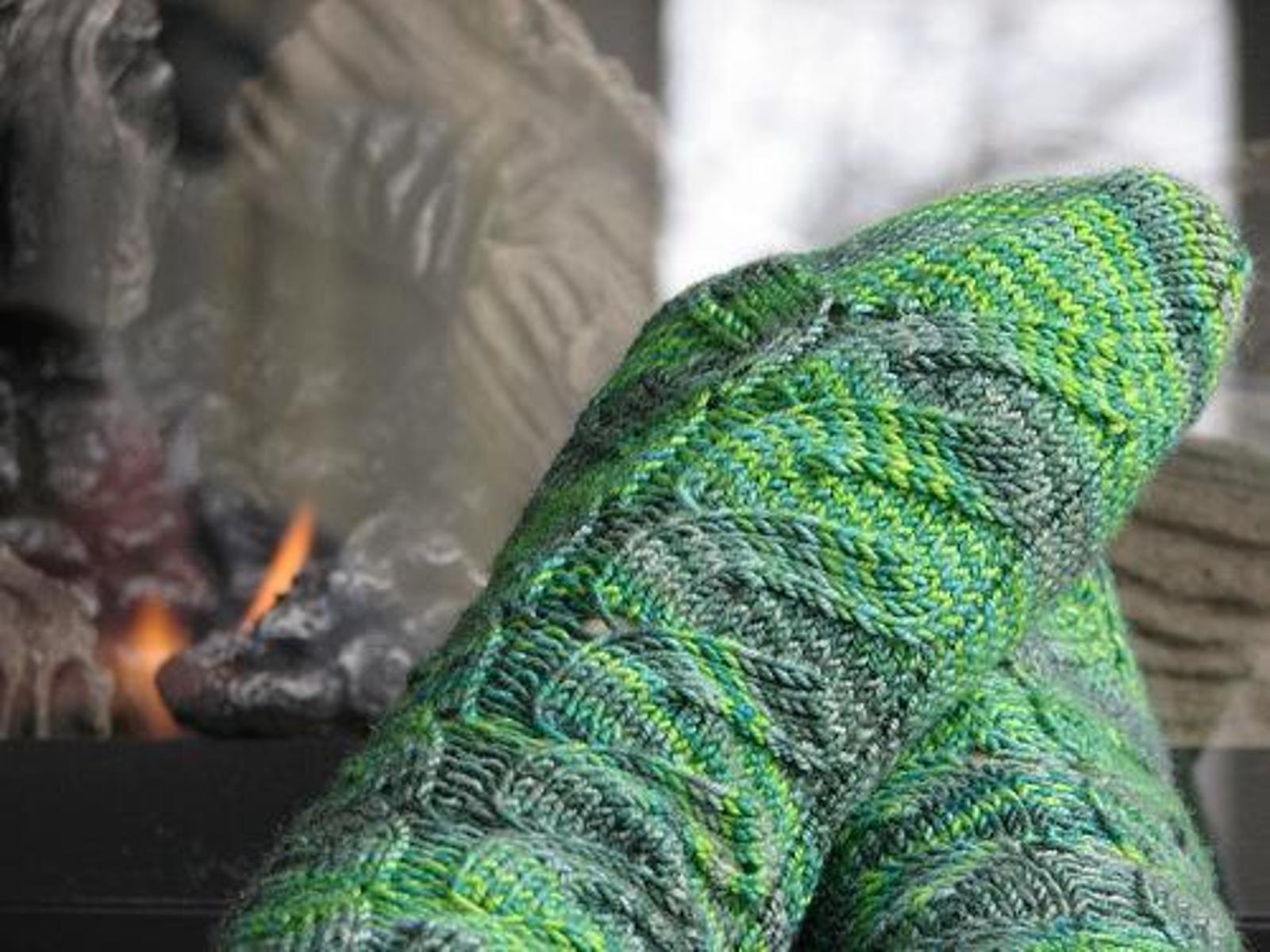 Tadpoles Socks Knitting Pattern