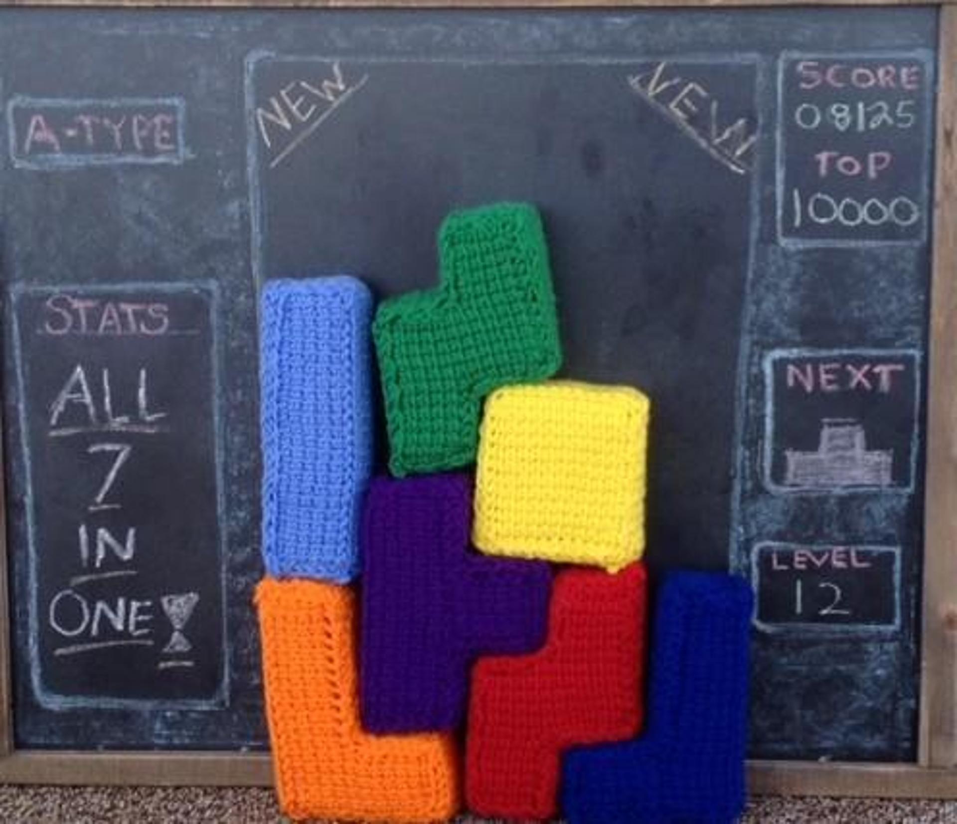 tetris crochet pattern