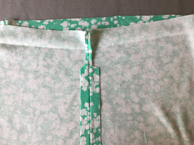 sew and trim waistband seam allowance