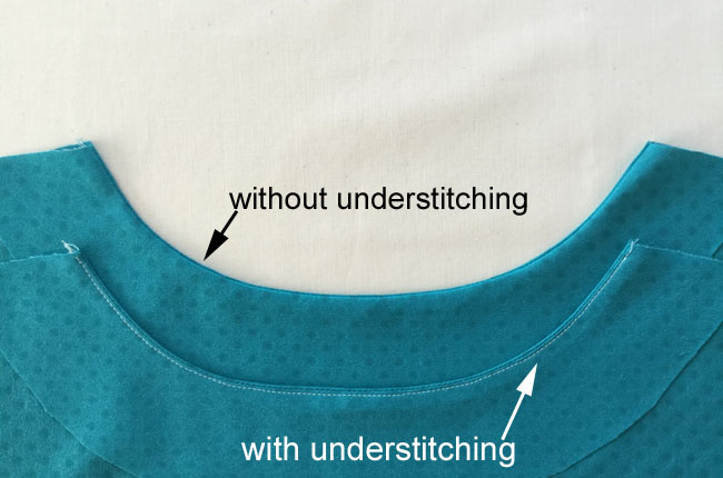 example of with and without under stitching