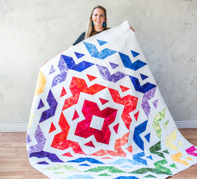 Angela Walters and Quilt