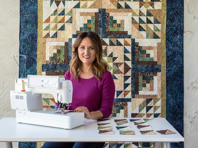 Callie Works-Leary Teaching Canyon Creek Quilt