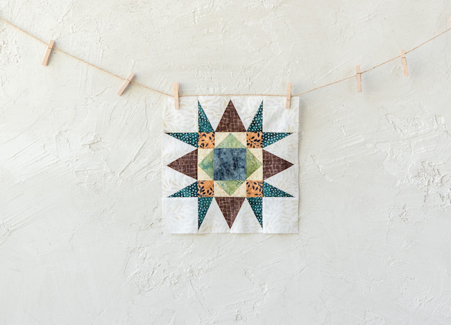 Spiky Star Block for Canyon Creek Quilt