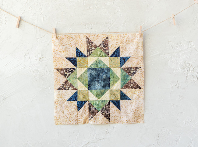 Center Star Block for Canyon Creek Quilt