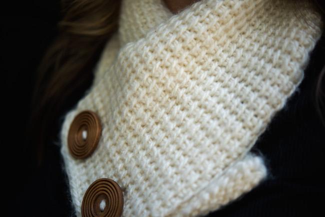 Tunisian Crochet Cowl