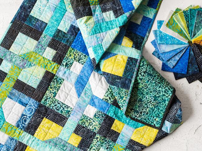 Puzzle Tropics Quilt Kit