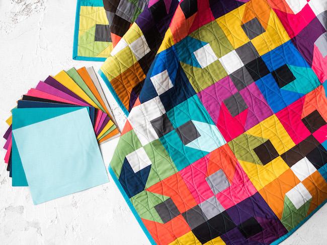 Modern Brights Corner Lot Quilt Kit