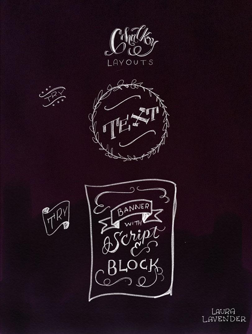 chalk lettering layout ideas