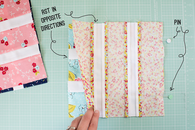 placing quilt blocks right sides together