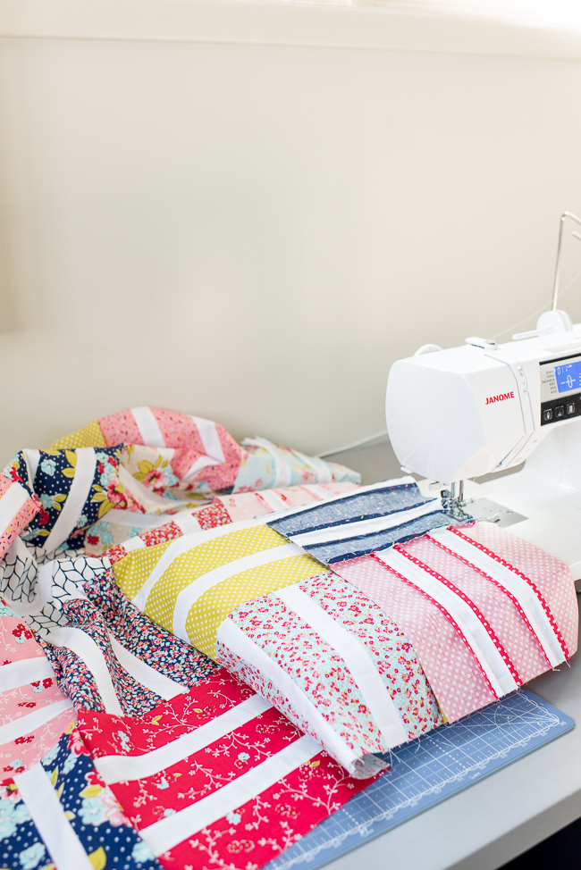 Sewing Quilt Top