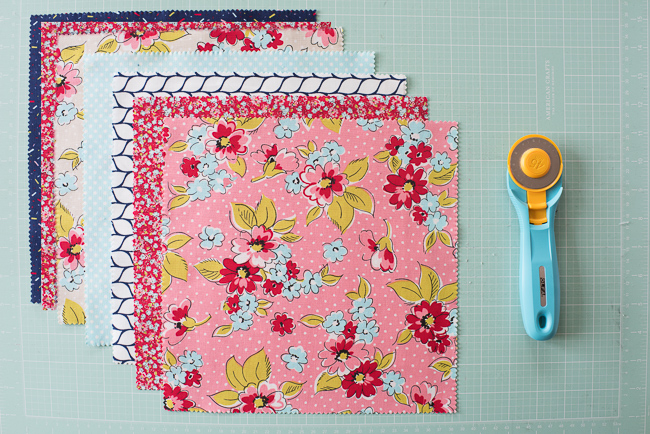 Boundless Flower Shoppe Fabrics and Rotary Cutter