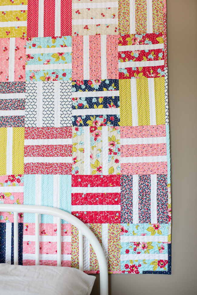 Beginner Baby Quilt With Boundless Flower Shoppe