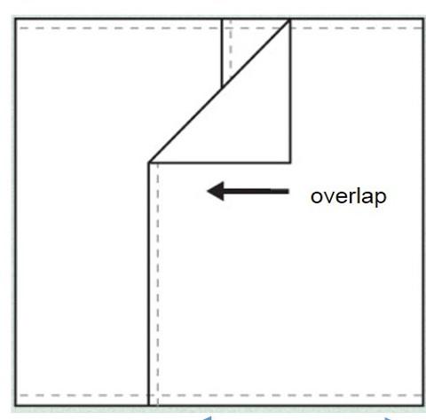 Envelope Pillow Backing Sewing Diagram