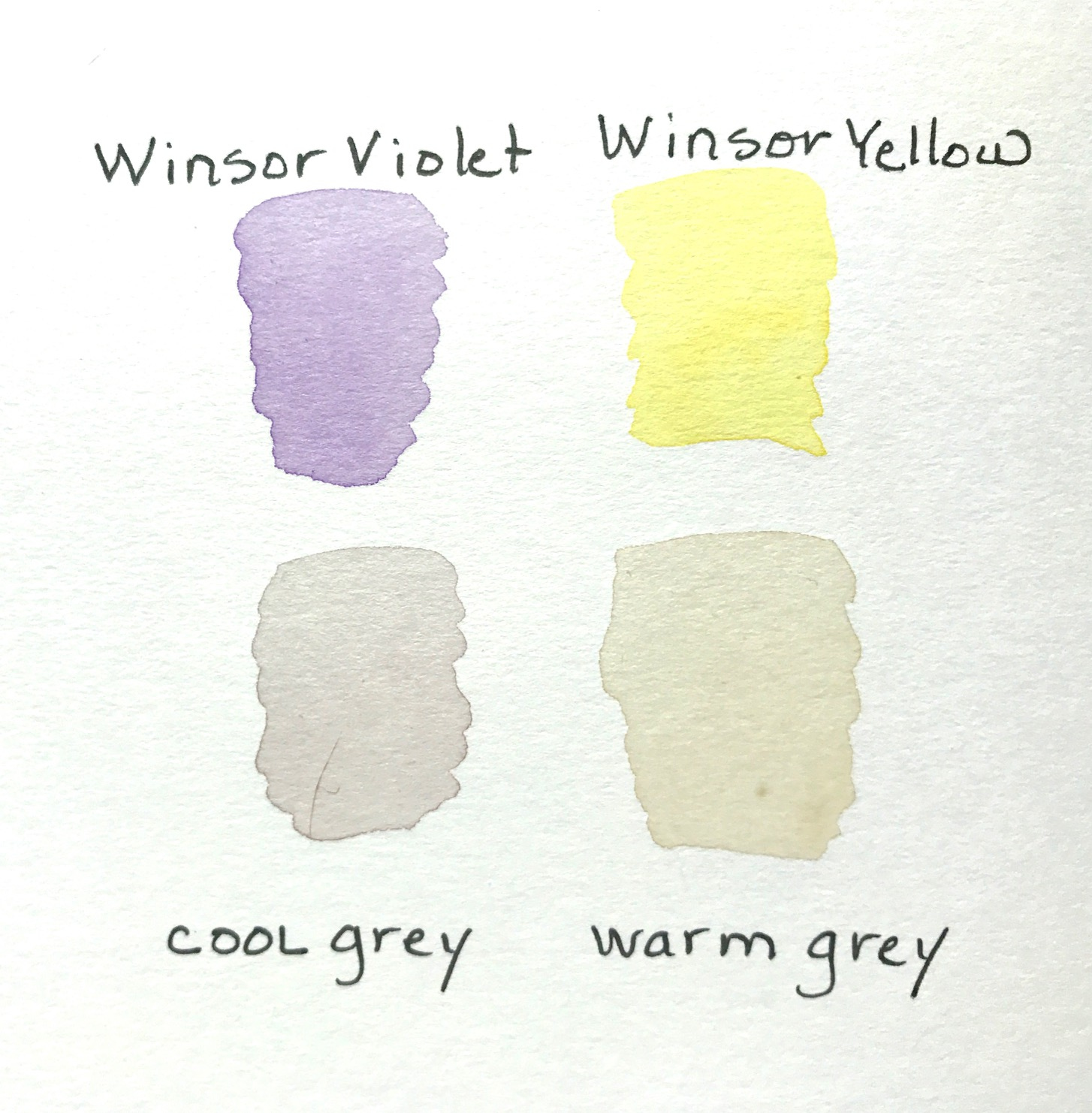 Mixing Gray from Yellow and Violet