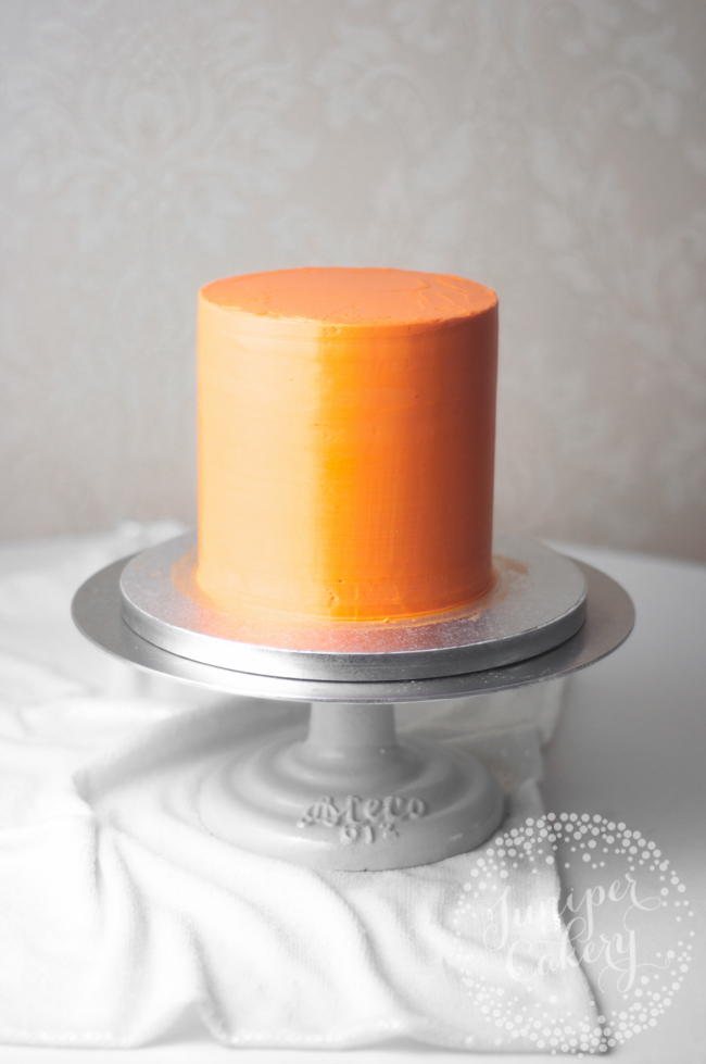 Orange Layer Cake on a Turntable