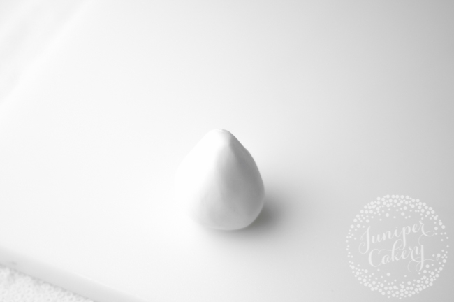 Tapered Ball of White Fondant