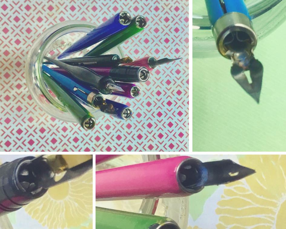 Plastic pen holders
