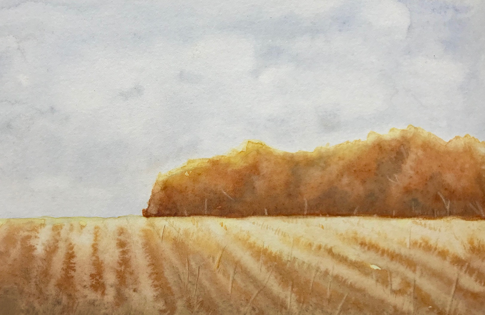 Fall Watercolor Landscape