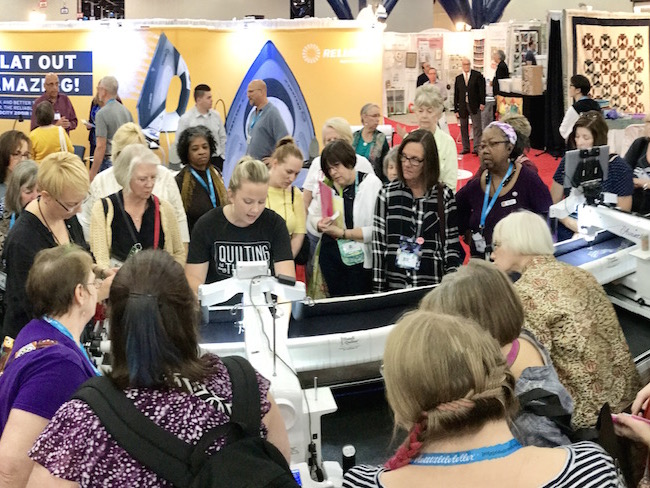 Angela Walters Demo at Quilt Market