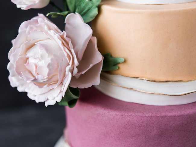 Man About Cake Statement Peony Cake